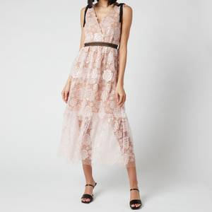 Self-Portrait Women's Starlet Rose Lace Midi Dress - Rose Pink