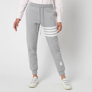 Thom Browne Women's Classic Sweatpants with Engineered 4 Bar - Light Grey
