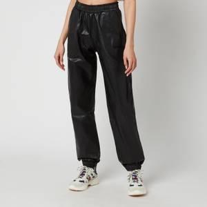 H2OFagerholt Women's Faux Leather Track Suit Trousers - Black