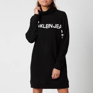 Calvin Klein Jeans Women's Logo Banana Dress - Ck Black