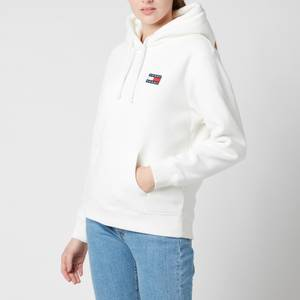 Tommy Jeans Women's Tjw Badge Polar Fleece Hoodie - Snow White