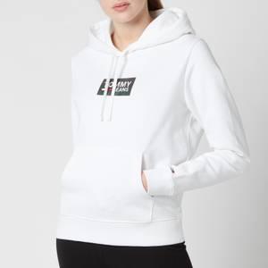 Tommy Jeans Women's Tjw Gradient Logo Hoodie - White