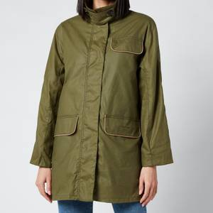 Barbour X Alexa Chung Women's Cyril Wax Jacket - Golden Khaki/Ancient