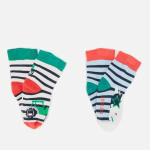 Joules Baby Tractor & Cow Socks (2 Pack)