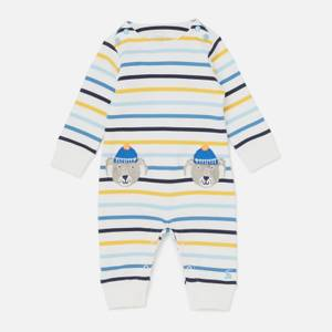 Joules Baby Fife Stripe Dog Baby Gro - Blue
