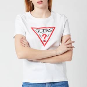 Guess Women's Short Sleeve Original T-Shirt - True White