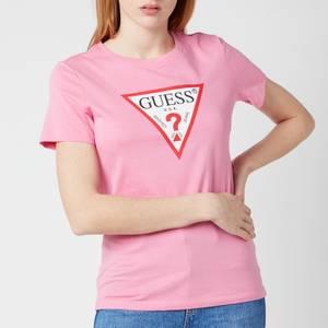 Guess Women's Short Sleeve Original T-Shirt - Jelly Pink