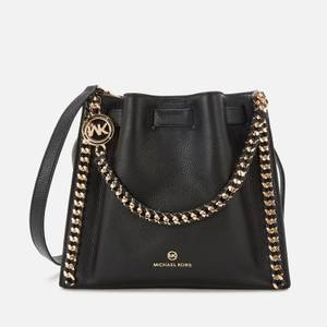 MICHAEL Michael Kors Women's Mina Medium Chain Messenger Bag - Black