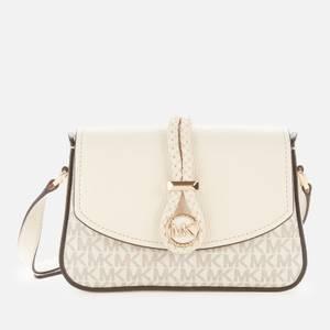 MICHAEL Michael Kors Women's Lea Small Flap Cross Body Bag - Vanilla/LT Cream