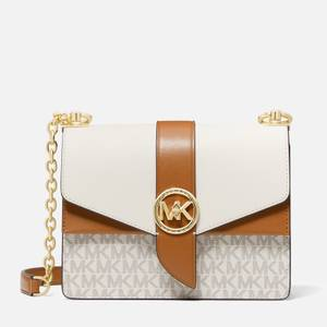 MICHAEL Michael Kors Women's Greenwich Small Cross Body Bag - Vanilla/Acorn