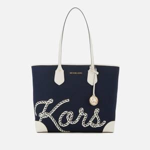 MICHAEL Michael Kors Women's Eva Rope Large Tote Bag - Navy