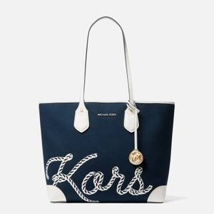MICHAEL Michael Kors Women's Eva Rope Large Tote Bag - Navy