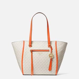 MICHAEL Michael Kors Women's Carine Medium Tote Bag - Clementine