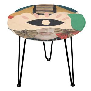 Decorsome Mix Collage Wooden Side Table