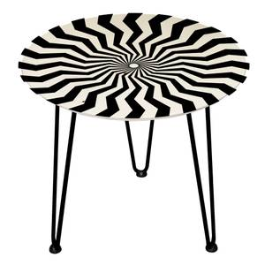 Decorsome Geometric Swirl Wooden Side Table