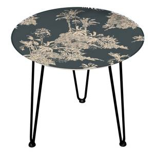 Decorsome Botanical Pattern Wooden Side Table