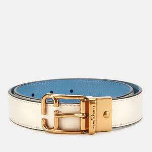 Marc Jacobs Women's Reversible Belt - Ivory/Country Blue