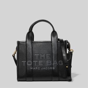 Marc Jacobs女士迷你旅行者皮革托特包-黑色