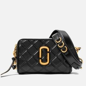 Marc Jacobs Women's The Softshot 21 Quilted Cross Body Bag - Black/Gold
