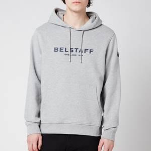 Belstaff Men's 1924 Pullover Hoodie - Grey Melange/Dark Navy