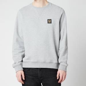 Belstaff Men's Patch Logo Sweatshirt - Grey Melange