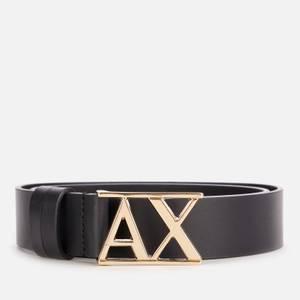 Armani Exchange Women's Logo Belt - Black