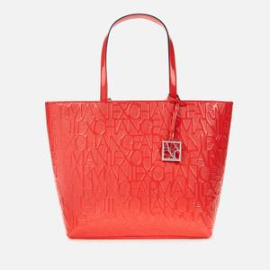 Armani Exchange Women's Monogram Tote Bag - Red