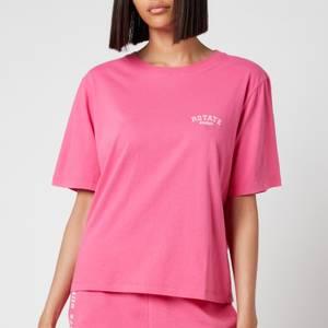 ROTATE Birger Christensen Women's Aster T-Shirt - Carmine Rose