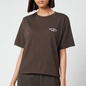 ROTATE Birger Christensen Women's Aster T-Shirt - Raven
