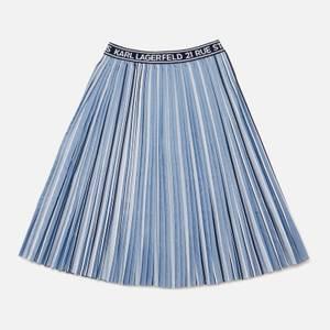 Karl Lagerfeld Girls' Pleat Skirt - Metallic