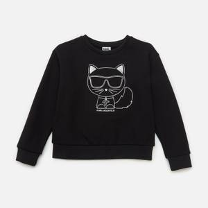 KARL LAGERFELD Girls' Choupette Sweatshirt - Black