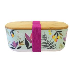 Sara Miller Floral Bamboo Lunch Box