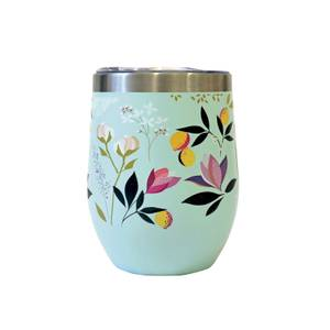 Sara Miller Floral Stainless Steel Travel Cup