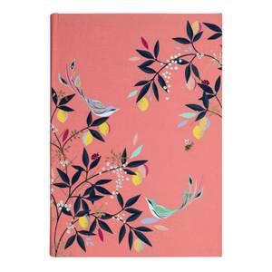 Sara Miller Floral Premium Fabric A5 Journal - Pink