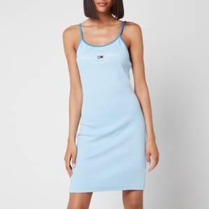 Tommy Jeans Women's TJW Block Strap Dress - Light Powdery Blue