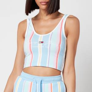 Tommy Jeans Women's TJW Stripe Crop Top - Light Powdery Blue Multi