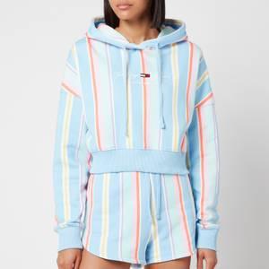 Tommy Jeans Women's TJW Stripe Hoodie - Light Powdery Blue Multi