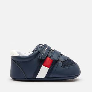 Tommy Hilfiger Babies' Velcro Trainers - Blue/White