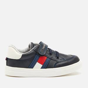 Tommy Hilfiger Toddlers' Lace Up Velcro Strap Trainers - Blue/White