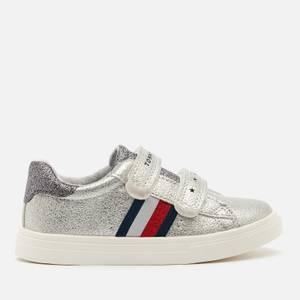 Tommy Hilfiger Toddlers' Low Cut Velcro Sneakers - Laminated Silver