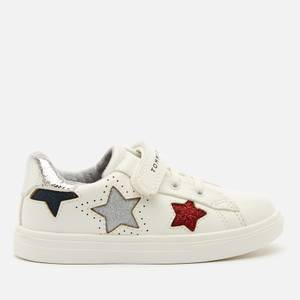 Tommy Hilfiger Toddlers' Low Cut Lace Up Velcro Sneakers - White/Multicolour