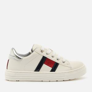 Tommy Hilfiger Kids' Low Cut Lace Up Sneakers - White/Multicolour