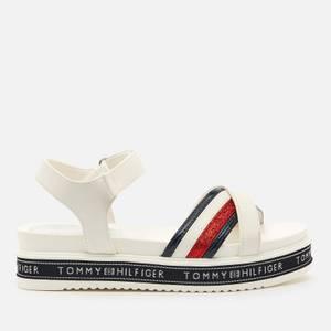 Tommy Hilfiger Girls' Platform Velcro Sandals - White
