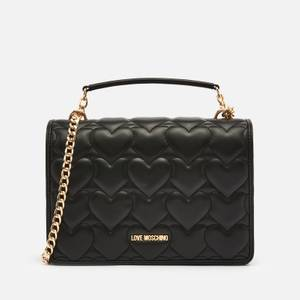 Love Moschino Women's Heart Quilt Shoulder Bag - Black