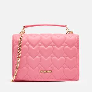 Love Moschino Women's Heart Quilt Shoulder Bag - Rose