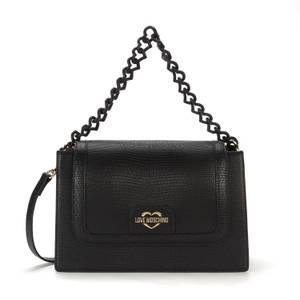 Love Moschino Women's Snake Print Shoulder Bag - Black