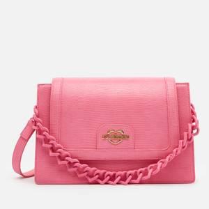 Love Moschino Women's Snake Print Shoulder Bag - Rosa