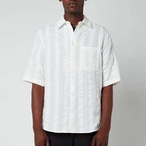 Holzweiler Men's Blyg Short Sleeve Shirt - Ecru Stripe