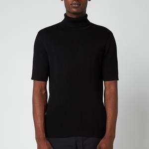 Holzweiler Men's Reve Rollneck Knitted T-Shirt - Black