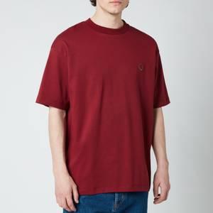 Drôle de Monsieur Men's Ribbed NFPM T-Shirt - Burgundy